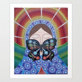 """The painting """"butterfly Kiss"""" Art Print"""