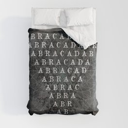 Abracadabra Reversed Pyramid in Charcoal Black Comforters