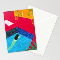 Naked swim Stationery Cards
