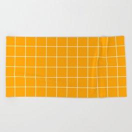 Marigold Grid Beach Towel