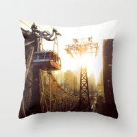 hook Throw Pillows featuring Hook, Line & Sinker by Phil Provencio