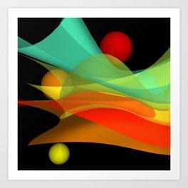 bicubic waves -4- Art Print