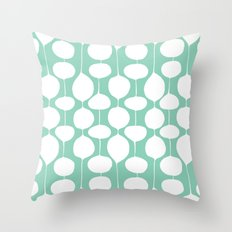 Holiday Bobbles - Festive Teal Throw Pillow
