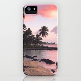 lucky we live hawaii iPhone Case