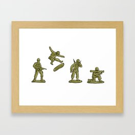 Skaters Lead the Way | Boards, Bros & Toy Soldiers Framed Art Print