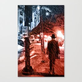 Walking Shadow Canvas Print