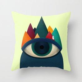 068 - I've seen it owl Throw Pillow