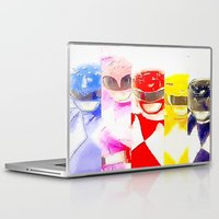 power rangers Laptop & iPad Skins featuring Power Rangers by americanmikey