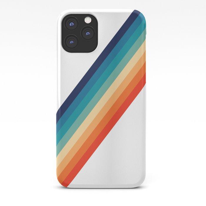 Retro 70s Stripe Colorful Rainbow iPhone Case