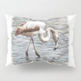Knee Deep Flamingo Watercolor Pillow Sham