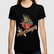 Little Adventurer SMALL Black Womens Fitted Tee