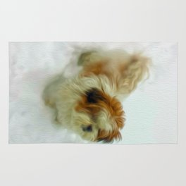Chewy in snow Rug
