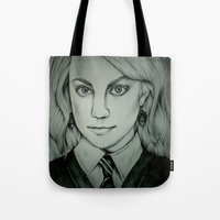 luna lovegood Tote Bags featuring Luna Lovegood by Rosie Smith