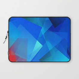 Poetry blue with red detail Laptop Sleeve