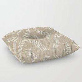 Birch in Tan Floor Pillow