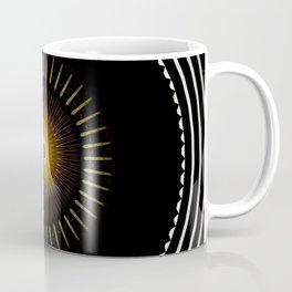 Modern Circular Abstract with Gold Mandala Coffee Mug