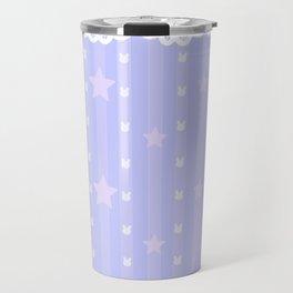 Kawaii Blue Travel Mug