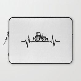 Tractor Heartbeat Farmer Farming Laptop Sleeve