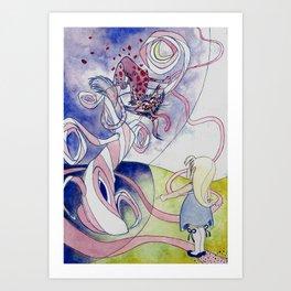 Madness in Wonderland Art Print