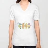 ninja turtles V-neck T-shirts featuring Ninja Turtles by Icameisawiateit