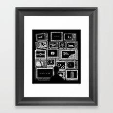 TV Addict Framed Art Print