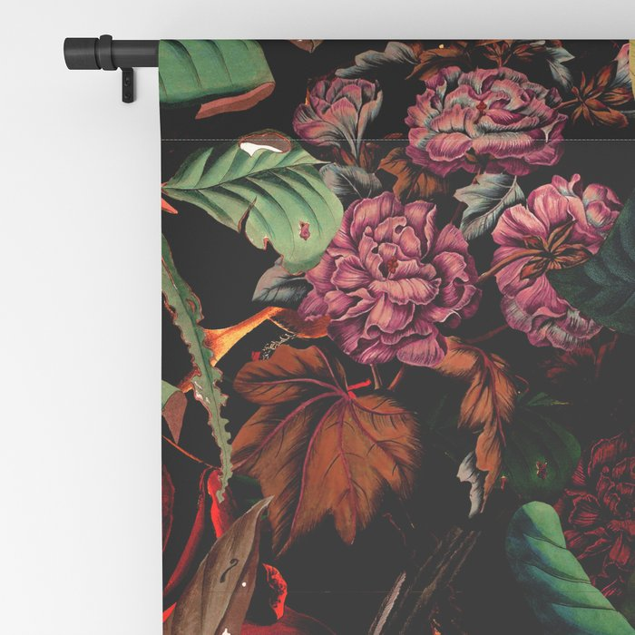 FLORAL AND BIRDS XIV Blackout Curtain