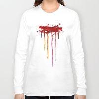 reservoir dogs Long Sleeve T-shirts featuring Reservoir Dogs Blood Drip by Van Hog Trio