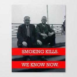 Smoking Kills. Canvas Print