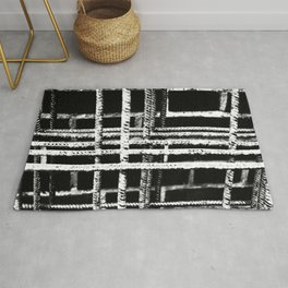 Rebar And Brick - Industrial Abstract Rug