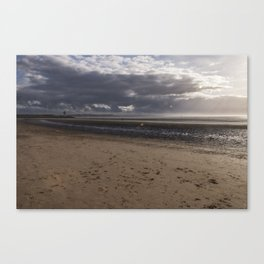 Dark clouds and clear sky Canvas Print