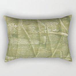 Dark khaki watercolor Rectangular Pillow