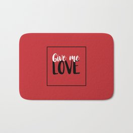 Give Me Love Red Square Bath Mat