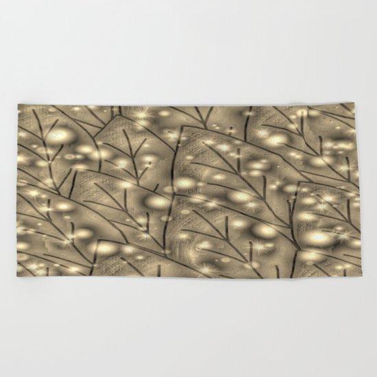 leaf Gold-280 Beach Towel