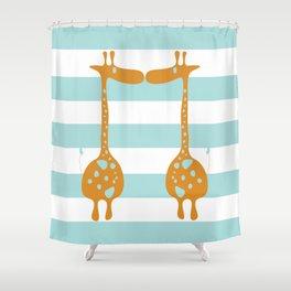 giraffe giraffe  Shower Curtain