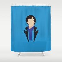 sherlock holmes Shower Curtains featuring 1 Sherlock Holmes by Alice Wieckowska