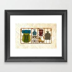Camping Kit Framed Art Print