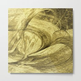 Flying threads of gold Metal Print