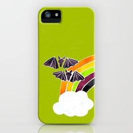 Halloween Rainbow on Lime iPhone Case
