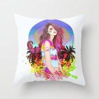scorpio Throw Pillows featuring Scorpio by Sara Eshak