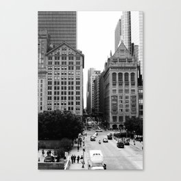 Chicago Street Scenes 4: Michigan and Monroe Canvas Print