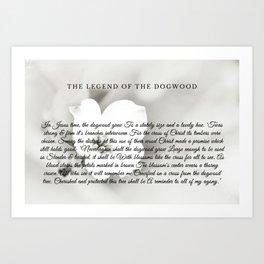 The Legend Of The Dogwood 6 Art Print