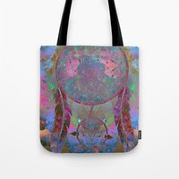 dreamcatcher Tote Bags featuring Dreamcatcher by Starstuff