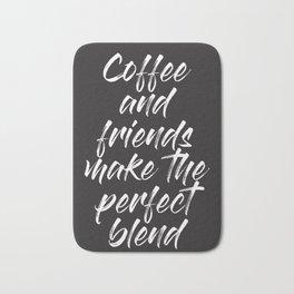 Coffee and Friends Bath Mat