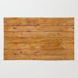 Barn Wall Made of Old Wooden Planks - Brown Rug