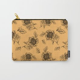Vintage Sunflower Pattern  Carry-All Pouch
