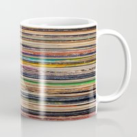 vinyl Mugs featuring Vinyl by elle moss