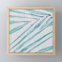 Palm leaves Framed Mini Art Print