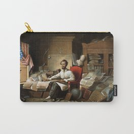 Lincoln Writing The Proclamation Of Freedom Carry-All Pouch