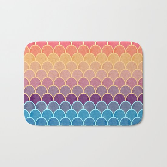 Watercolor Lovely Pattern VVIV Bath Mat