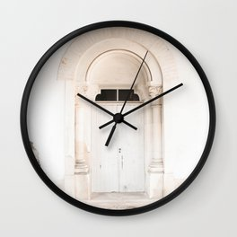 The White Door - travel photography by Ingrid Beddoes Wall Clock